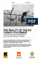 The Reality of the EU-Turkey Statement: How Greece has become a testing ground for policies that erode protection for refugees