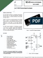 Votrax SC-01 Speech Synthesizer Data Sheet