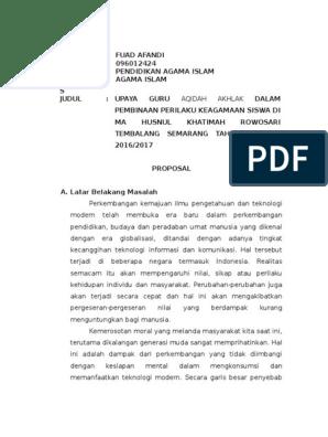 Proposal Skripsi Pai Docx