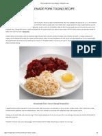 Homemade Pork Tocino Recipe - Recipe Ni Juan
