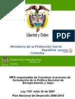 Present Política Nal de Envejecimiento y Vejez - Seminario Inter de Env y Vejez - Julio 6 de 2010