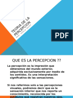 Teoria de La Percepcion