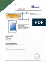Specimen for Solar Water Heater