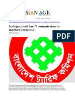Independent Tariff Commission in Market Economy