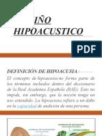El Niño Hipoacustico