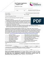 High School Senior Summer Internship Program Application