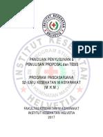 Panduan Penyusunan Proposal Dan Tesis 2017