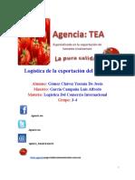 Logística de La Exportación Del Tomate