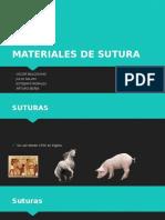 Materiales de Sutura y Tipos de Drenes