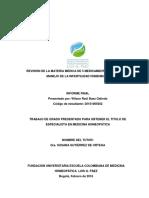 Revision de La Materia Medica de 5 Medicamentos Utiles en El Manejo de La Infertilidad Femenina Wilson Raul Baez 1