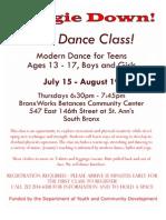 Free Boogie Down Dance Class