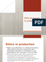 Ethical Issues in Production