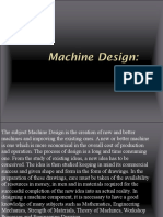 MAChine Design (Lecture 1)