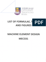 List of Formulae, Tables and Figures