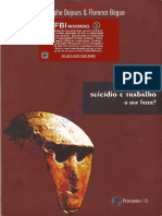 Suicídio e Trabalho, O Que Fazer - Christophe Dejours & Florence Bègue
