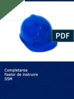 Completarea Fiselor de Instruire SSM