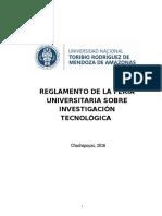Reglamento Feria Investigacion Tecnologica