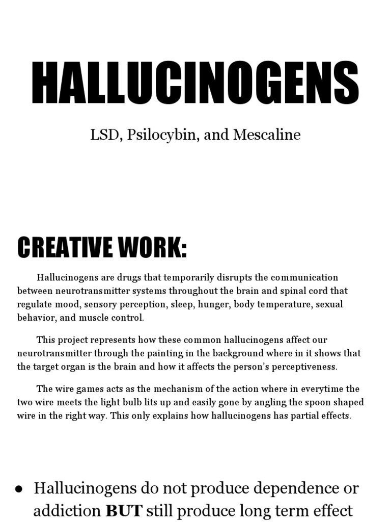Hallucinogens 1 Hallucinogen Hallucination