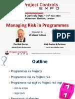 M2 Managing Risk in Programmes Slides