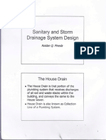 Sanitary and Storm Drainage