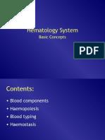 Konsep Dasar Sistem Hematologi