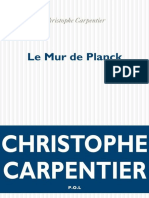 Le Mur de Planck - Christophe Carpentier