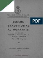 Sensul Tradiţional Al Monarhiei Conferinţă Rostită La Fundaţia Dalles