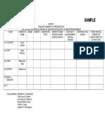Sample Summary Table (Group 1)