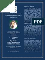 2nd Internationalconference Brochure