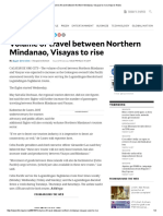 Volume of Travel Between Northern Mindanao, Visayas to Rise _ Inquirer News