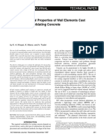 In Situ Mechanical Properties of Wall Elements Cast