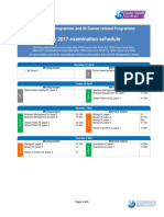 2017 IB Exam Schedule