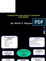 02 - Establishing High Quality Classroom Assessment