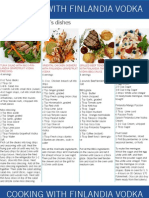 Cooking With Finlandia Recipe Card