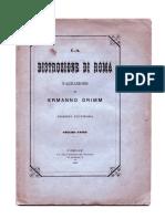 Grimm, Ermanno - La Distruzione Di Roma (1886)