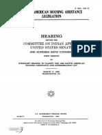SENATE HEARING, 106TH CONGRESS - NATIVE AMERICAN HOUING ASSISTANCE LEGISLATION
