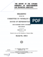 HOUSE HEARING, 106TH CONGRESS - TO RECEIVE THE REPORT OF THE CONGRESSIONAL COMMISSION ON SERVICEMEMBERS AND VETERANS TRANSITION ASSISTANCE