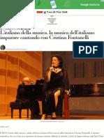 L'Italiano Della Musica, La Musica Dell'Italiano