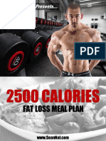 Cutting Meal Plan 2500cals