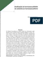 História da criminalização da homossexualidade no Brasil
