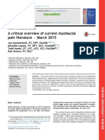A Critical Overview of Current Myofascial Pain Literature March 2015