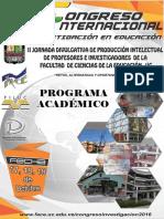 Programa Congreso I Intenacional VD-1
