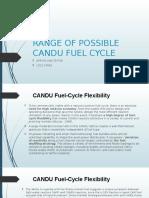 Range of Possible Candu Fuel Cycle