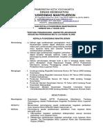 9.4.2.6 SK Penanggung Jawab Pelaksanaan Kegiatan Perbaikan Mutu Layanan Klinis