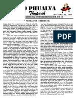 Zo Phualva Thupuak - Volume 01, Issue 16