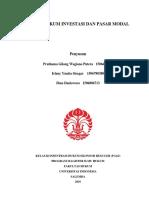 Tugas Mata Kuliah Hukum Investasi Dan Pasar Modal (Kelompok 1)