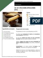 Hoja de Impresión de Soletillas Bañadas en Chocolate (Chocolate Dipped Lady Fingers)