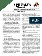 Zo Phualva Thupuak - Volume 01, Issue 19