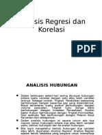 AnalisaRegresi&Korelasi