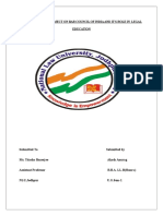 Legal Methods Project on Bar Council of India and It's Function in Legal Education in India - Copy